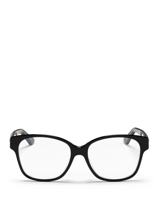 Main View - Click To Enlarge - Dior - Contrast coating acetate optical glasses