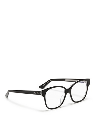 Figure View - Click To Enlarge - Dior - Contrast coating acetate optical glasses
