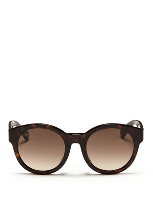 Main View - Click To Enlarge - Gucci - Confetti inlay temple tortoiseshell effect acetate sunglasses
