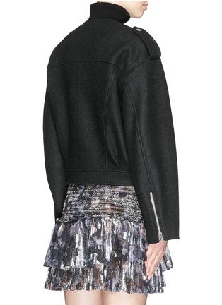 Back View - Click To Enlarge - Isabel Marant - 'Audril' wool felt biker jacket