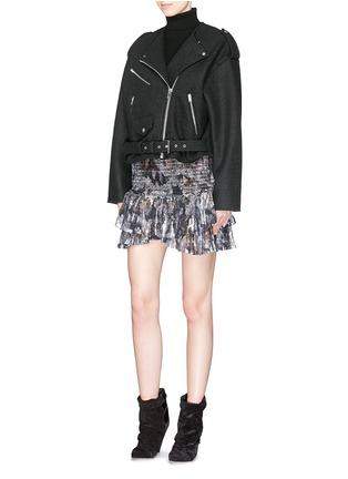 Figure View - Click To Enlarge - Isabel Marant - 'Audril' wool felt biker jacket