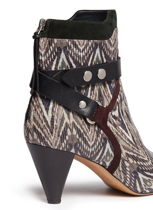 Detail View - Click To Enlarge - Isabel Marant - 'Raya' ikat print snakeskin effect leather ankle boots
