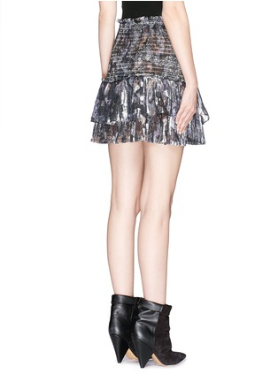 Back View - Click To Enlarge - Isabel Marant - 'Silea' graphite paisley print silk skirt