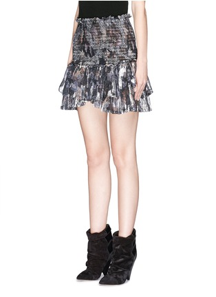 Front View - Click To Enlarge - Isabel Marant - 'Silea' graphite paisley print silk skirt