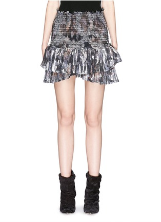 Main View - Click To Enlarge - Isabel Marant - 'Silea' graphite paisley print silk skirt