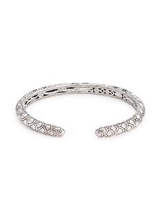 John Hardy Sapphire silver scaly Naga cuff