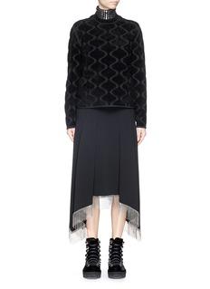 ALEXANDER WANG Flock velvet oversize sweatshirt