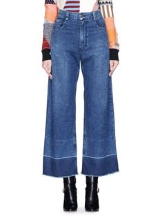 Rachel Comey 'Legion' raw edge cuff wide leg jeans