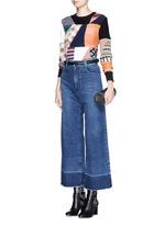'Legion' raw edge cuff wide leg jeans