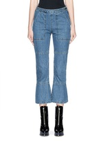 'Pursue' flare cropped jeans