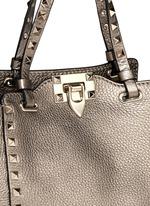 'Rockstud' mini metallic leather tote