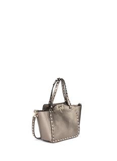 VALENTINO'Rockstud' mini metallic leather tote