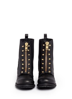 Ash 'Rachel' stud front nappa leather zip boots