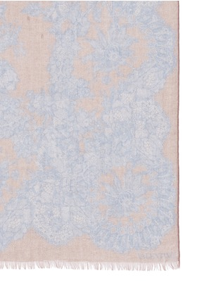 Valentino - Floral lace print cashmere-silk scarf