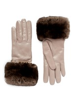 'Rockstud' strap Orylag fur trim leather gloves