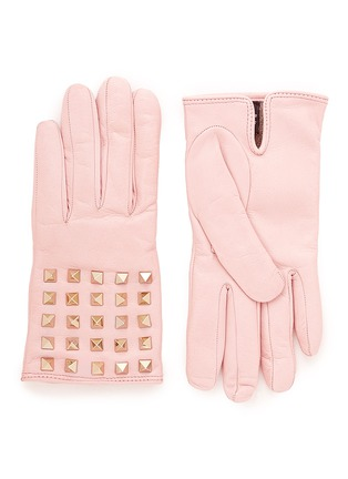 Main View - Click To Enlarge - Valentino - 'Rockstud' leather gloves