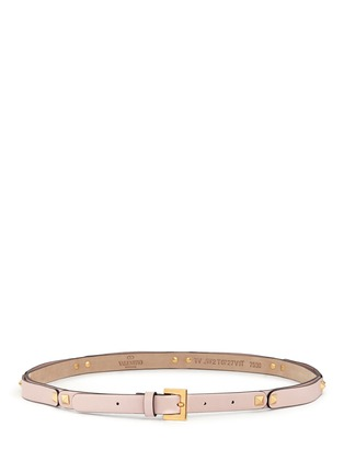 Main View - Click To Enlarge - Valentino - 'Rockstud' section leather slim belt