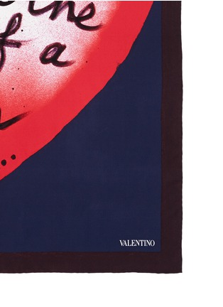 Detail View - Click To Enlarge - Valentino - 'L'Amour' silk scarf