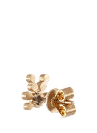 Detail View - Click To Enlarge - Sophie Bille Brahe - 'Flacon de Neige' diamond 18k yellow gold single earring