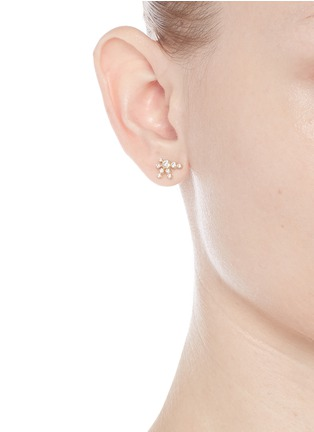 Figure View - Click To Enlarge - Sophie Bille Brahe - 'Flacon de Neige' diamond 18k yellow gold single earring