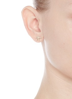 Sophie Bille Brahe 'Flacon de Neige' diamond 18k yellow gold single earring