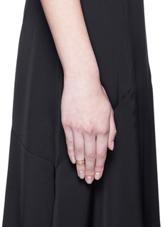 Sophie Bille Brahe 'Minor' diamond 18k yellow gold midi ring