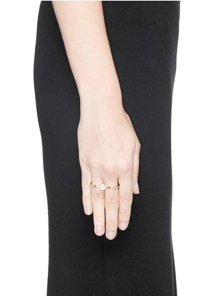 Figure View - Click To Enlarge - Sophie Bille Brahe - 'Double de Perle' 14k gold pearl two finger ring