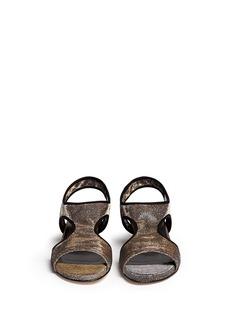 STUART WEITZMAN'Giver' metallic wedge sandals