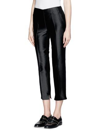 正面 -点击放大 - MONCLER GAMME ROUGE - 混丝光泽直脚九分裤