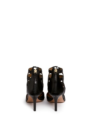 Back View - Click To Enlarge - Aquazzura - 'Belgravia' caged leather pumps