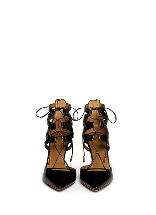 Figure View - Click To Enlarge - Aquazzura - 'Belgravia' caged leather pumps