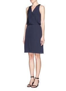 THEORY'Osteen' silk georgette wrap dress