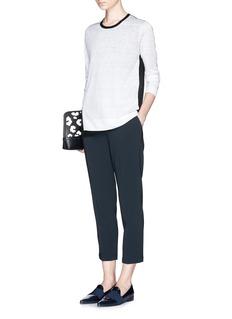 THEORY'Padra' elastic waist cropped pants