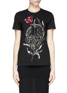 ALEXANDER MCQUEENEmbellished floral T-shirt