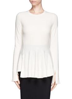 ALEXANDER MCQUEENWool-cashmere peplum sweater