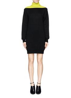 ALEXANDER WANG Colourblock wool sweater dress