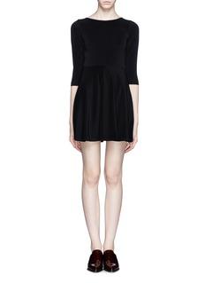 ALICE + OLIVIAFlounce stretch dress