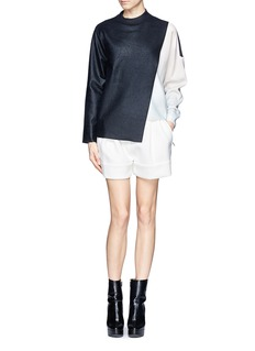 3.1 PHILLIP LIM Bonded techno jersey shorts
