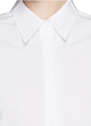 Detail View - Click To Enlarge - 3.1 Phillip Lim - Basket weave panel poplin shirt dress