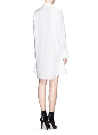 Back View - Click To Enlarge - 3.1 Phillip Lim - Basket weave panel poplin shirt dress