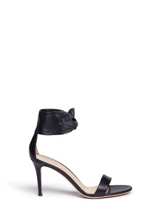 Gianvito Rossi Ankle bow tie leather sandals