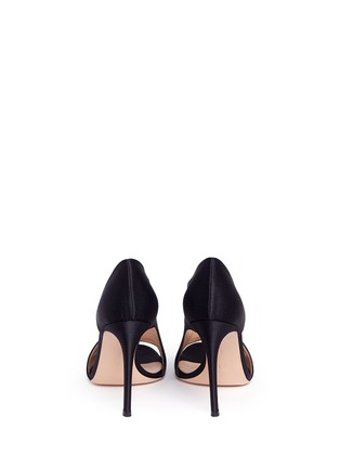 Back View - Click To Enlarge - Gianvito Rossi - 'Demi' arched satin bootie sandals