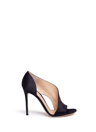 Main View - Click To Enlarge - Gianvito Rossi - 'Demi' arched satin bootie sandals