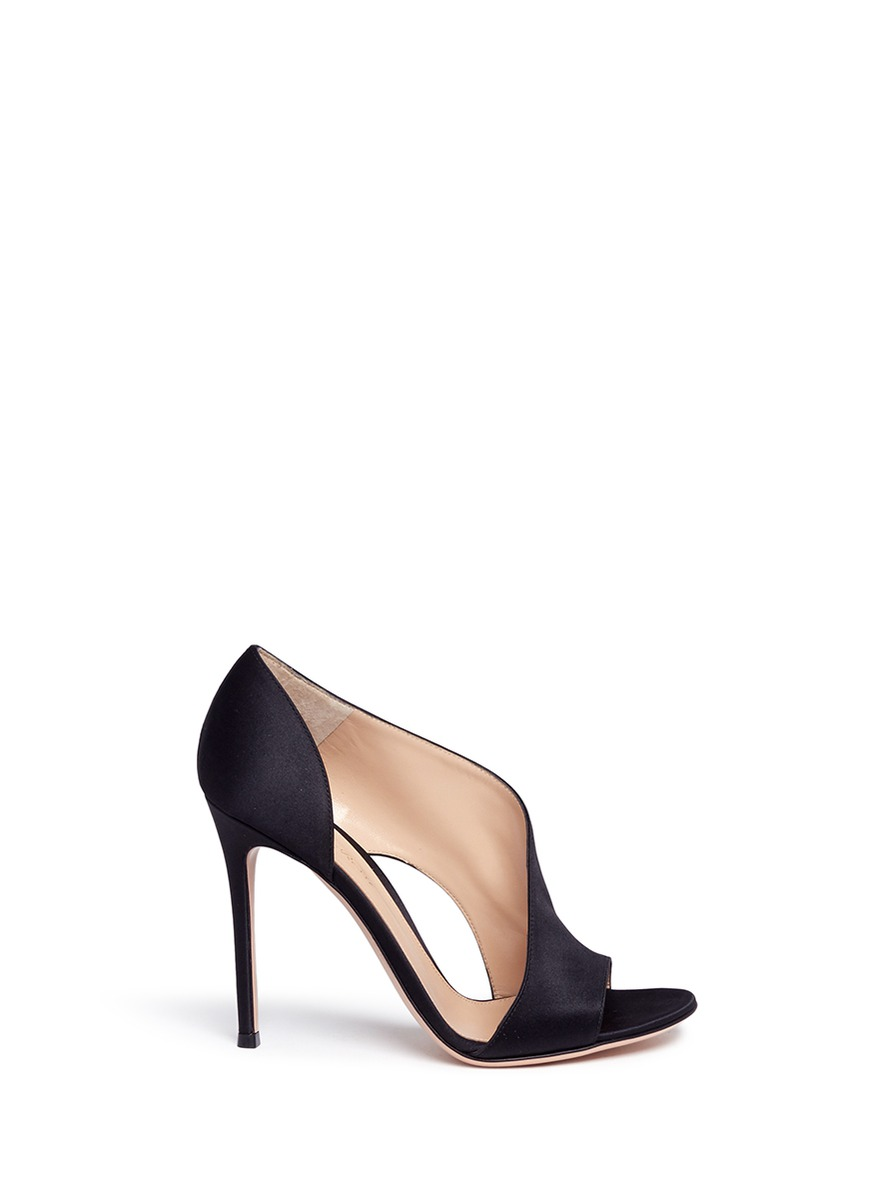 Demi arched satin bootie sandals by Gianvito Rossi