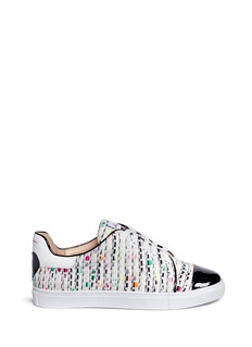 Isa Tapia'Caelan' heart patch tweed sneakers