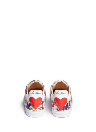 Back View - Click To Enlarge - Isa Tapia - 'Caelan' heart patch fruit print sneakers