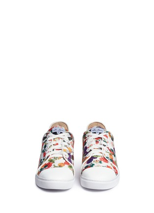 Front View - Click To Enlarge - Isa Tapia - 'Caelan' heart patch fruit print sneakers