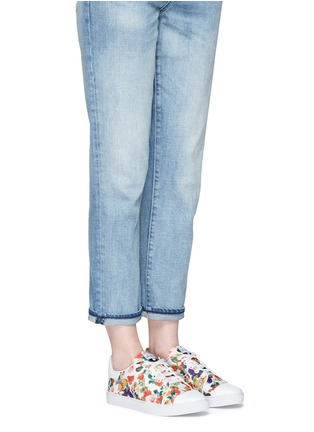 Figure View - Click To Enlarge - Isa Tapia - 'Caelan' heart patch fruit print sneakers