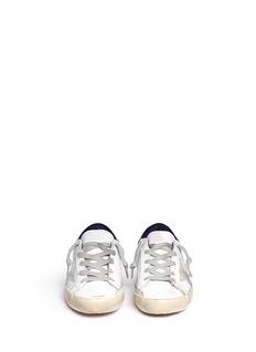 GOLDEN GOOSESuperstar儿童款五角星拼贴做旧运动鞋