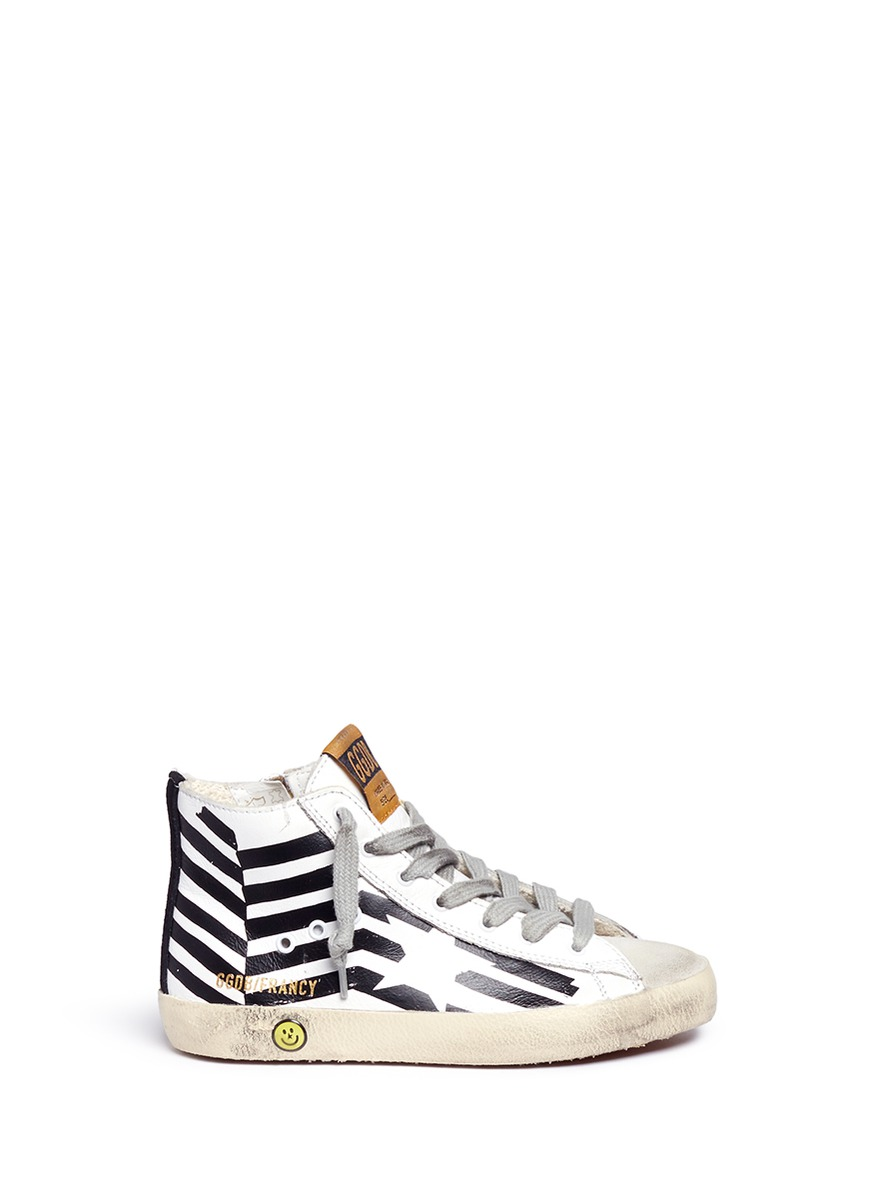 LC-503053649-KID – FRANCY HI-TOP SNEAKER W ASYMMETRICAL DESIGN by Golden Goose